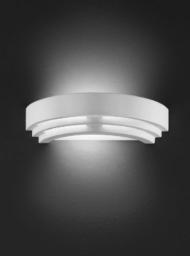Franklite WB961 Ceramic - can be painted Wall Light (Class 2 Double Insulated)